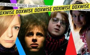 """Grafik fra """"Doxwise Dagbog"""" af Michael Noer og Julie Pedersen / Copenhagen Bombay (2008)"""